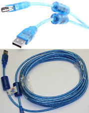 20ft long USB2.0 A Male~Female Extension Camera/Webcam/Printer Cable/Cord {BLUE