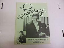 George Liberace Show Program Original Vintage