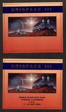 United Nations Ny, Scott#763 & 763A, Set Di Mini Fogli Unispace III Sovrastampa
