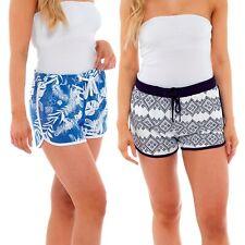 Women Shorts Printed Jersey Summer Holiday Beach Cotton Hot Pants