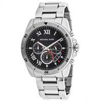 Michael Kors Brecken Silver Tone Black Dial Chronograph Mens Watch MK8438