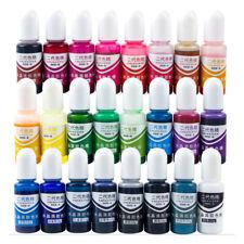 24pcs Resina Epossidica Epoxy farbe UV Colore Pigmento Arte per Gioielli DIY 10g