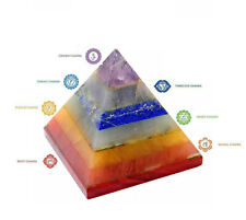 7 Chakra Multi-Stone Reiki Pyramid Healing Spiritual Gemstones Energy Generator