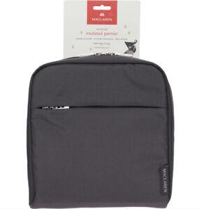 Maclaren Universal Insulated Pushchair Pannier Carry Bag  Charcoal Grey Pram Bag