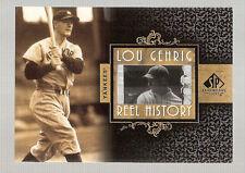 LOU GEHRIG #d 1 of 1 PIECE OF MLB GAME FILM REEL HISTORY 07 SP LEGENDARY YANKEES