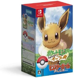 Pokemon Let's Go! Eevee Monster Ball Plus Set nintendo Switch japan