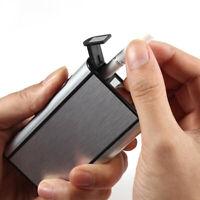Automatic Ejection Cigarette Box Aluminum Windproof Pocket Cigarette Case Holder