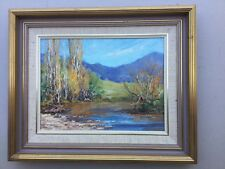 Barbara Beasley-Southgate  Study In Blue And Gold Framed
