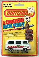 Lesney Matchbox 23-A 23a VW Volkswagen Pizza Van Bus Dormobile Chrome London BP