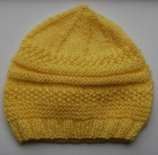 Hand-knitted Baby Hat - Yellow - Newborn