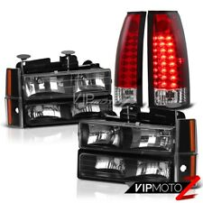 1992-1993 Chevy Suburban CK 1500 2500 Red LED Brake Lamps Corner Headlights C10