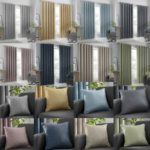Strata Eyelet Dim Out Curtains. Choice of Colours & Sizes