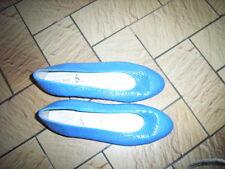 Ballerines cuir bleu roy ajourées DEL'HER P38