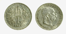 pcc2128_100)  Franz Joseph I 1 Korona 1914 AG
