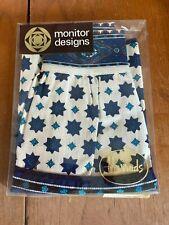 More details for vintage retro monitor designs @ harrods blue & white dutch apron 1/2 pinny new