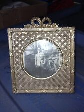"""Early 5"""" Ornate French Brass Frame"""
