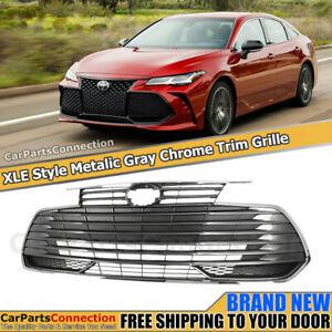 Front Bumper Grille For Toyota Avalon 19+ Metallic Gray Chrome Trim XLE Style