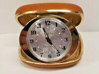 Westclox Travel Ben Vintage Windup Alarm Clock Case Made In USA Luminous Hands