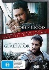 Robin Hood / Gladiator (DVD, 2010, 2-Disc Set)