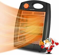 500W Portable Electric Space Heater Tip-Over & Overheat Protection 2 Modes Quiet