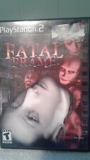 Fatal Frame 1 Based on a True Story Sony Playstation 2 Ps2 Game Complete