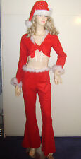 Miss Christmas Xmas Cowgirl Fancy Dress Costume 70s Disco Line Dancing 10 Used
