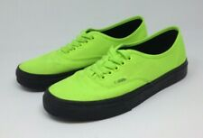 Vans Off the Wall Authentic Black Outsole Neon Green Canvas Shoes