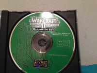 warcraft II beyond the dark portal expansion set   PC disc  & replacement case