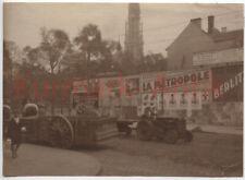 R716 Foto Wehrmacht Belgien Antwerpen oder 20er zivil Lanz Bulldog Traktor LKW