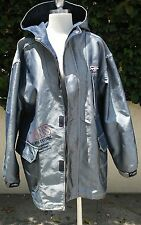 FUBU Shiny Denim Jacket Size Medium Hood Full Zip Men's