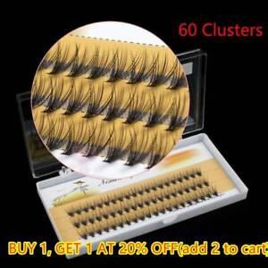 60pcs-Fashion Makeup Individual Cluster Eye Lashes Grafting Fake False Eyelashes