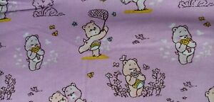 Camelot Care Bears Cheer & Share Purple FQ/Half metre 100% cotton,free p&p,