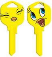TWEETY BIRD House Key Blank LOONEY TUNES KWIKSET KW1 SMILE EYE