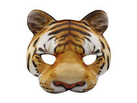 Tiger Half Mask Realistic Look Soft Foam Face Mask Halloween Costume Accessory