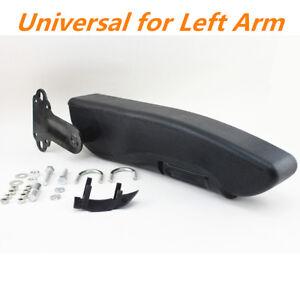 Universal Car Truck Custom Left Armrest Seat Mount Arm Console Pad 38cm Black 1x