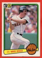 1983 Donruss #586 Wade Boggs EX WRINKLE Rookie RC Boston Red Sox FREE S/H
