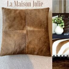 ANIMAL SKIN CUSHION BROWN BUTTER SOFT LEATHER BACK PAD INCLUDED