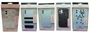 """Kate Spade Hardshell Case for iPhone 11 6.1"""" 2019, Floral Clear, Dots & Stripes"""