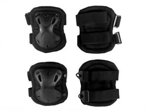 Set 4pcs Elbow and Knee Pads for Skating, Rollerblading, Bicycling and Sports