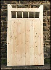 garden gate wooden cottage style tall pedestrian gate round hardwood spindle