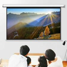 Leadzm 84 Inch Hd Pull Down Manual Projector Screen Projection 169 White
