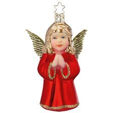Engel rot 10cm INGE-GLAS Christbaumschmuck