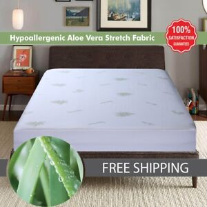 Aloe Vera Pillow Cases Fitted Sheets Natural Cool Bamboo Bedding All Size covers