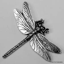 Dragon Fly Pewter Pin Brooch -British Hand Crafted- Damsel Fly Fishing