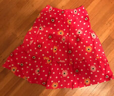 GYMBOREE BLOOMING NAUTICAL PINK POPPY FLOWER N DOT PRAIRIE SKIRT 3 4 5 6 7 8 NWT