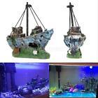 Aquarium Decoration Ornament Sailing Boat Ship Destroyer Fish Tank Cave Decor