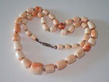 Engelshaut Korallen Kette Collier Tonnen 54 cm, 55 g Angel Skin Coral Necklace