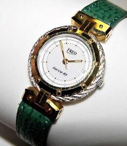 FRED PARIS Force 10 ACIER SS/18K Gold Ladies Watch 25MM $2700