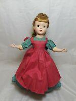 "Vintage Madame Alexander Little Women "" Meg "" Doll  14"" Tall  1950's"