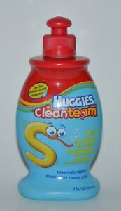 HUGGIES CLEAN TEAM 2 IN 1 SHAMPOO CONDITIONER BLUE MELON SPLASH 9 OZ RARE KIDS